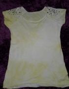 bluzka dekatyzowana włoska bewelniana nowa 36