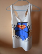 TOP bokserka superman S M śliski materiał nowa