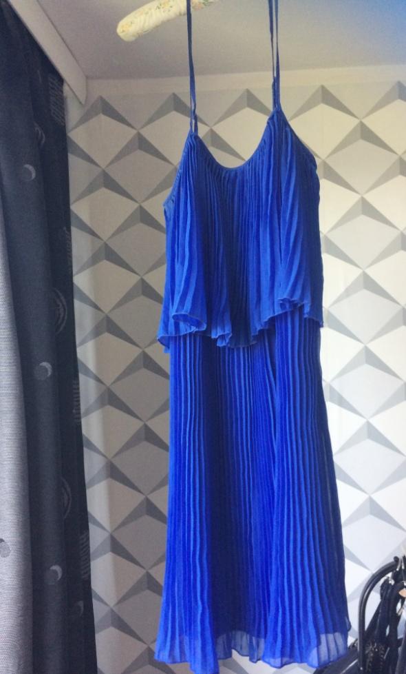 Suknie i sukienki Kobaltowa sukienka Cubus