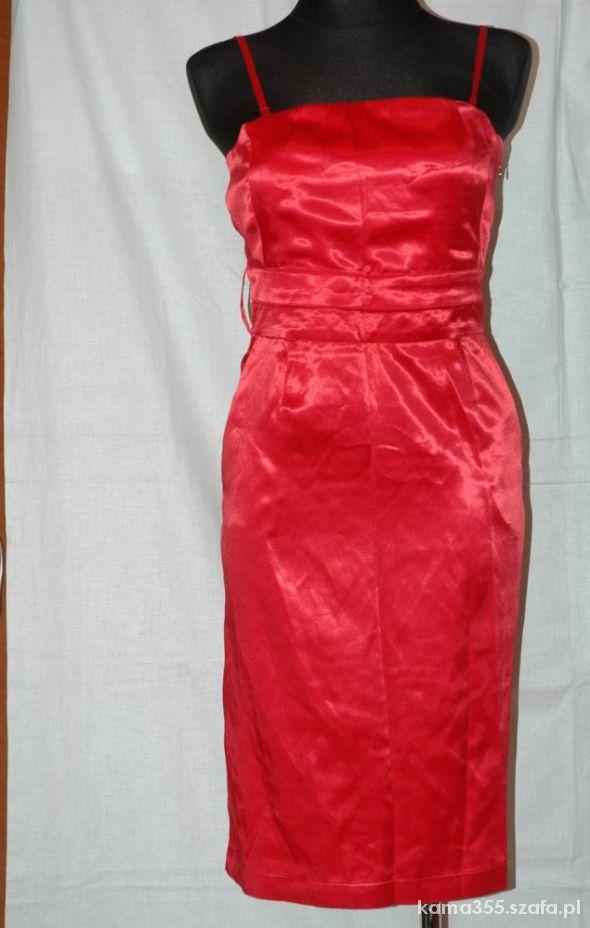 Suknie i sukienki Czerwona satyna 40