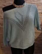 Ażurowy sweterek mięta