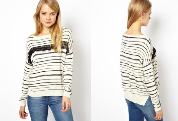 Swetry ASOS SWETER W PASKI ANGORA 36 42 44