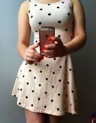 Morelowa pudrowa sukienka lato H&M