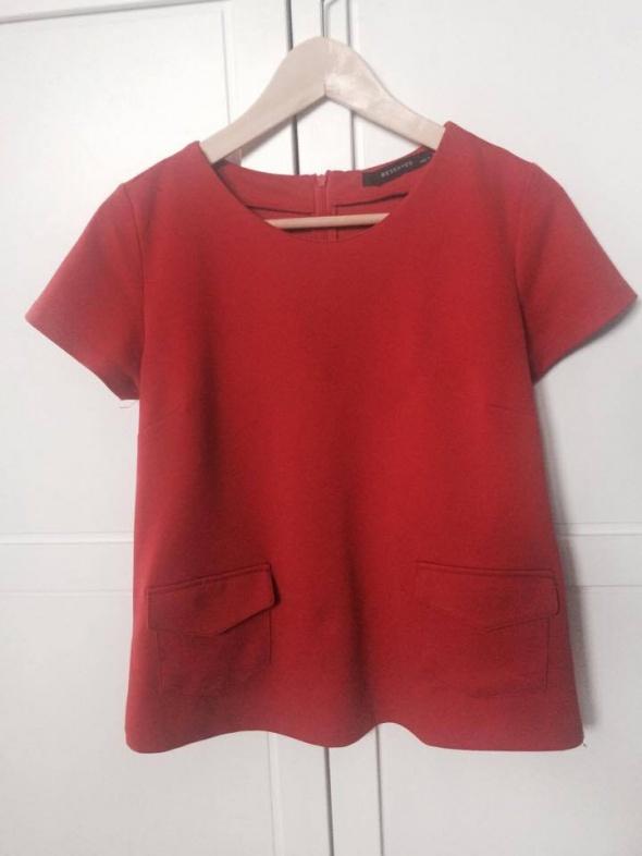 Bluzki Czerwona z kieszonkami