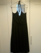 Czarna sukienka mgiełka ze złotymi drobinkami H&M