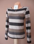 Sweterek w paski L 40