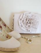 Kremowe pudrowy róż jasny róż szpilki Atmosphere