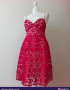 Mohito sukienka czerwona gipiura...