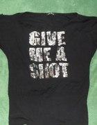GIVE ME A SHOT czarny nietoperz