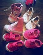 Różowe buciki dla dziewczynki 18 i19