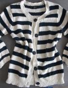 Sweter w paski r 38