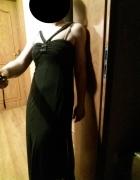 sylwestrowa sukienka długa wieczorowa suknia czarn