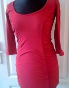 sukienka czerwona sexy tally weijl