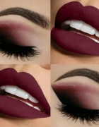 Bordo sexy make up