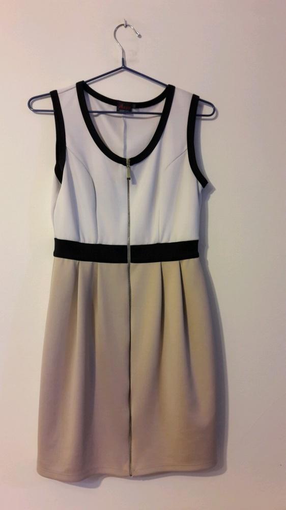 25e0f7e4dcd52c Suknie i sukienki sukienka na wesele ołówkowa beżowa na grubych ramiączkach