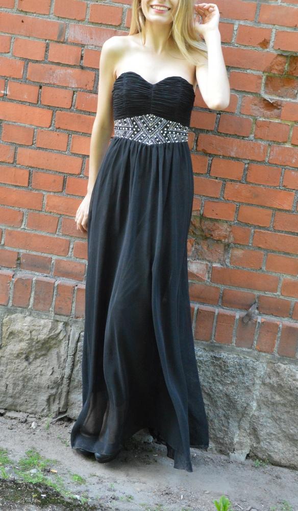 Suknie i sukienki Sukienka maxi długa czarna studniówka 2016