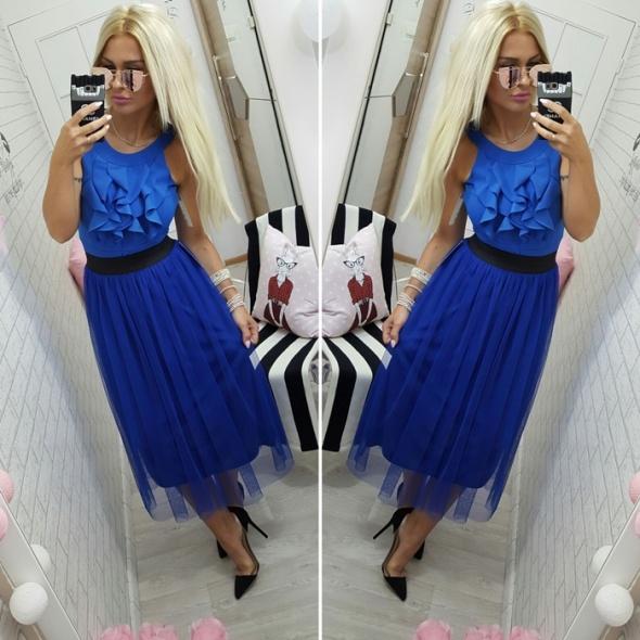 Codzienne body falbanka spodnica tiul beauty blue