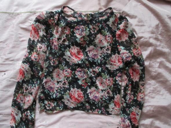 Koszule Affair koszula z szyfonu kwiaty zamek S