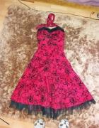 sukienka jka HELL BUNNY rockabilly pin up goth