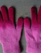 Rękawiczki ombre cieniowane fuksja