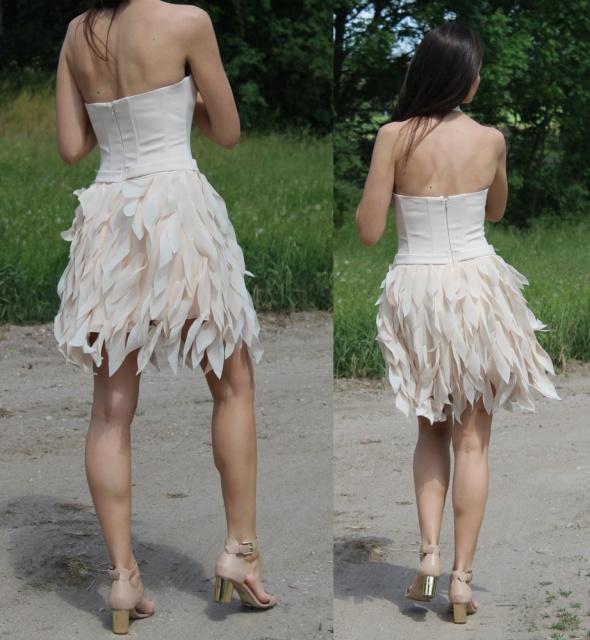 Na specjalne okazje sukienka lou LEA i beżowe dodatki