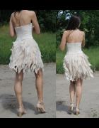 sukienka lou LEA i beżowe dodatki