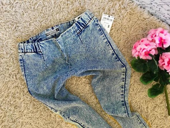 LETNIE rureczki jeans CUDO xs s