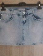 Jeansowa spódniczka marmurkowa rozmiar S