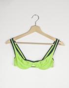 Góra od stroju kąpielowego zielona neonowa Adidas...
