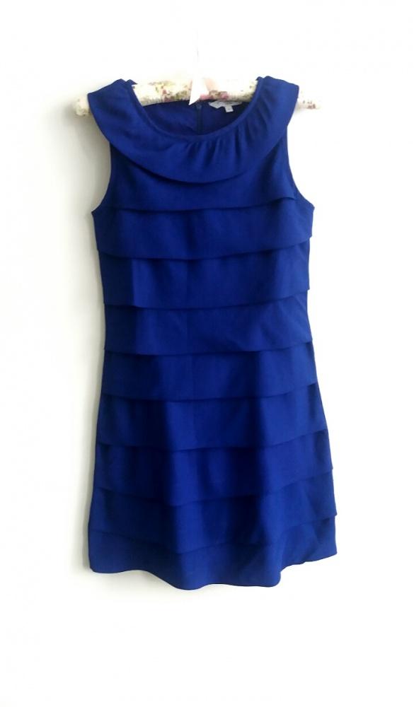 205d8977 Sukienka xs new look kobaltowa niebieska falbany elegancka w Suknie ...