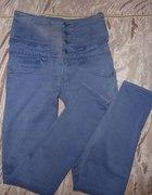 Spodnie gorsetowe wysoki stan skinny elastyczne