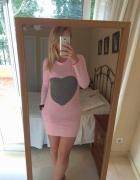 Nowa sukienka z sercem na codzień M