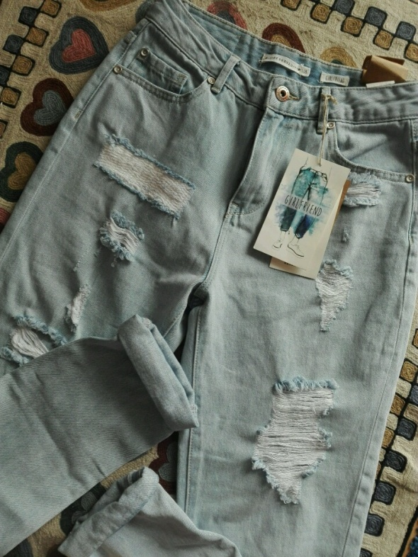214cdad51b2cc2 Spodnie świetne spodnie mom jeans mom fit girlfriend boyfriend wysoki stan  Reserved nowe z metkami