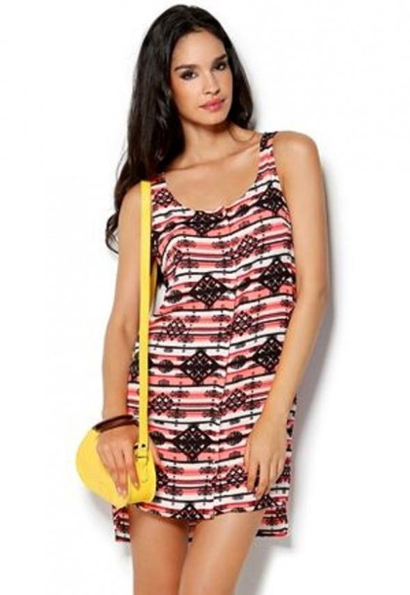 Tuniki sukienka tunika VILA aztec M tumblr