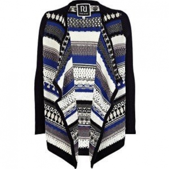 Swetry sweter waterfall River Island aztec L