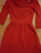czerwona sukienka Brshka XS piękna