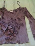Wila bluzka hiszpanka fioletowa S do M