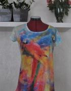 koszulka z papugą