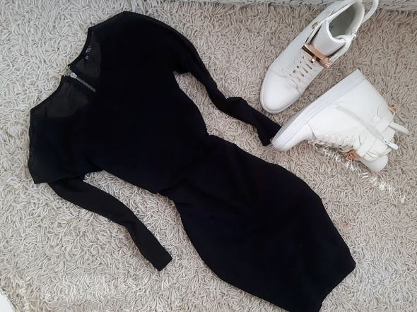 CZRANA cudna sukienka H&M siateczka HIT