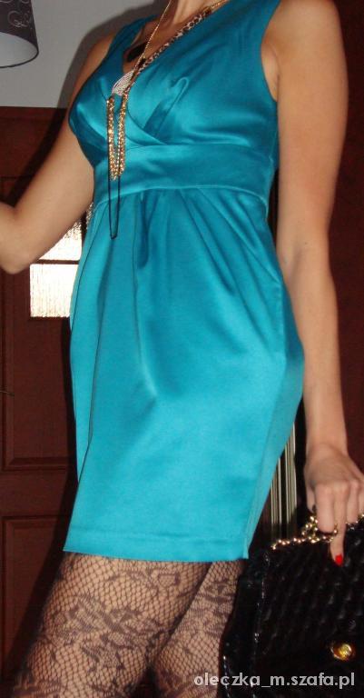 Suknie i sukienki Śliczna turkusowa sukienka na każdą okazję