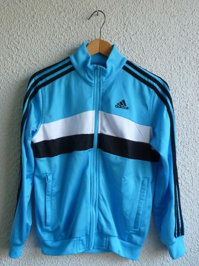 Bluzy Bluza Dresowa niebieska Adidas Oldschool 34 XS