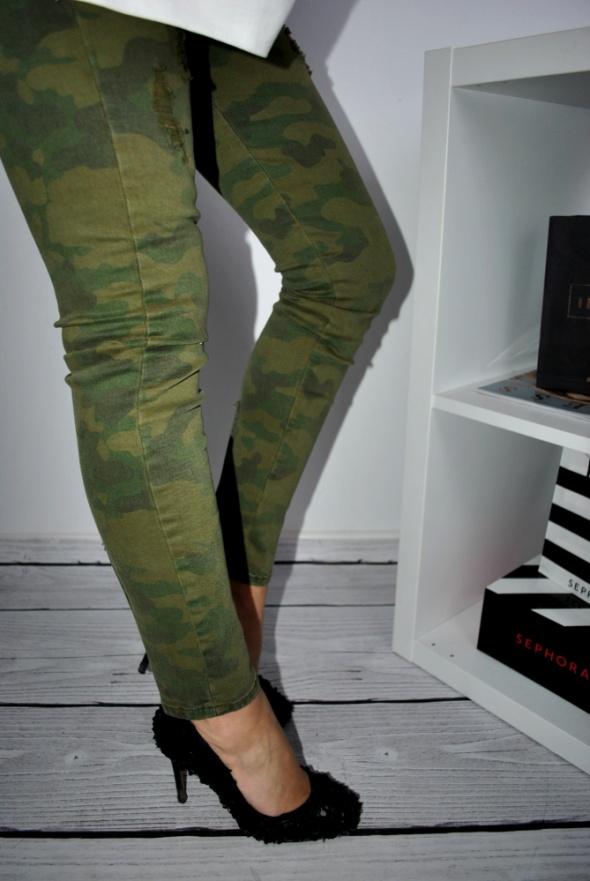 Zara Genialne moro spodnie Skiny 34 Hit w Spodnie Szafa.pl