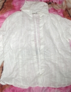 Biała koszula w paski...