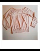 bluza pudrowy róż z nadrukiem H&M