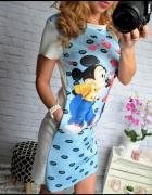 Niebieska sukienka MIKY i MINI