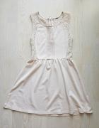 Sukienka H&M 34 xs koronkowe plecy
