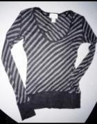 LOFT paski bluzka cienka pasiak sweterek top