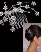Grzebyk tiara ozdoba do włosów ślub komunia