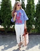 Koszula w kratę & białe spodnie...