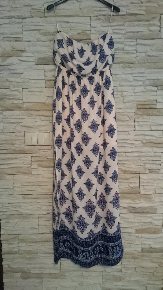 Suknie i sukienki nowa pudrowa sukienka maxi NEW YORKER